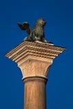 Το λιοντάρι της Βενετίας, αρχαίο γλυπτό λιονταριών χαλκού φτερωτό Στοκ φωτογραφία με δικαίωμα ελεύθερης χρήσης
