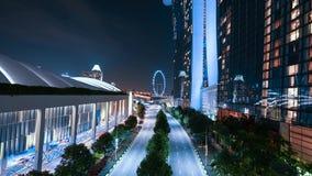 Το ιπτάμενο της Σιγκαπούρης από τον κόλπο μαρινών στρώνει με άμμο το ξενοδοχείο απόθεμα βίντεο