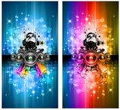 το ιπτάμενο του DJ disco ανάβει μ& διανυσματική απεικόνιση