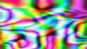 Το ιριδίζον ολογραφικό πολύχρωμο υπόβαθρο, κυματιστή επιφάνεια κυματισμών, αφαιρεί το μουτζουρωμένο γρήγορο κινηματογράφο ελεύθερη απεικόνιση δικαιώματος