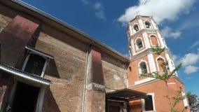 Το ισπανική χτισμένο εποχή Saint-Paul ο πρώτος καθεδρικός ναός ερημιτών που παρουσιάζει πύργο κουδουνιών της απόθεμα βίντεο