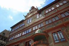 Το ιστορικό Δημαρχείο συχνά αυτός πανεπιστημιακή πόλη Tubingen Γερμανία Στοκ Εικόνες