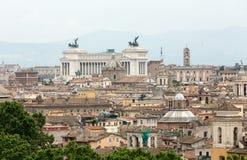 Το ιστορικό κέντρο της Ρώμης που βλέπει από Castel Sant& x27 Angelo Ρώμη Στοκ φωτογραφία με δικαίωμα ελεύθερης χρήσης