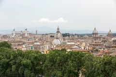 Το ιστορικό κέντρο της Ρώμης που βλέπει από Castel Sant Angelo Ρώμη Στοκ φωτογραφία με δικαίωμα ελεύθερης χρήσης