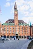 Το ιστορικό κτήριο ξενοδοχείων παλατιών, Κοπεγχάγη Στοκ Φωτογραφία