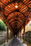 Το ιστορικό ξύλινο κλιμακοστάσιο Kirchtreppe, Thun, Ελβετία Στοκ φωτογραφία με δικαίωμα ελεύθερης χρήσης