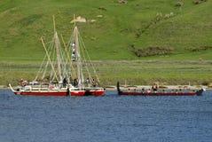 Το ιστορικό ταξίδι Tapu Waka έφθασε κατ' οίκον Στοκ Εικόνες