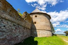 Το ιστορικό φρούριο Oreshek είναι ένα αρχαίο ρωσικό φρούριο στοκ φωτογραφία