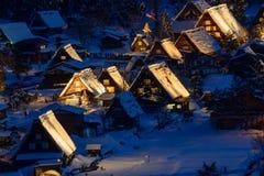 Το ιστορικό χωριό shirakawa-πηγαίνει το χειμώνα στοκ εικόνα με δικαίωμα ελεύθερης χρήσης