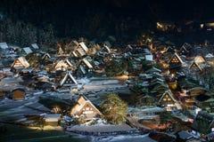 Το ιστορικό χωριό shirakawa-πηγαίνει το χειμώνα στοκ φωτογραφία με δικαίωμα ελεύθερης χρήσης