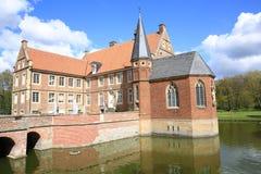 Το ιστορικό Castle Huelshoff στη Βεστφαλία, Γερμανία Στοκ Εικόνες
