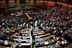 Το ιταλικό Κοινοβούλιο στοκ φωτογραφίες