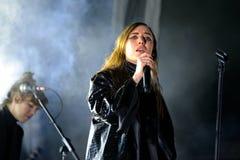Το λι Lykke (τραγουδιστής και τραγουδοποιός από τη Σουηδία) αποδίδει στο φεστιβάλ σόναρ Στοκ Φωτογραφίες