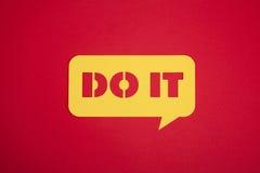 Το κάνετε κίνητρο στην κίτρινη φυσαλίδα Στοκ εικόνες με δικαίωμα ελεύθερης χρήσης