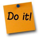 Το κάνετε πορτοκαλί Post-it λευκό Pushpin στοκ φωτογραφίες με δικαίωμα ελεύθερης χρήσης
