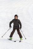 Το κάνοντας σκι αγόρι στην Ελβετία Στοκ φωτογραφίες με δικαίωμα ελεύθερης χρήσης