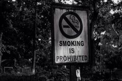 Το κάπνισμα είναι απαγορευμένο Στοκ φωτογραφία με δικαίωμα ελεύθερης χρήσης