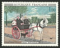 Το κάρρο Juniet πατέρων ` s από το Henri Rousseau Στοκ φωτογραφία με δικαίωμα ελεύθερης χρήσης