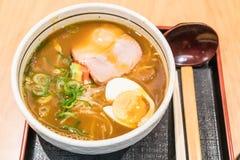 το κάρρυ με το χοιρινό κρέας και το αυγό Στοκ φωτογραφίες με δικαίωμα ελεύθερης χρήσης