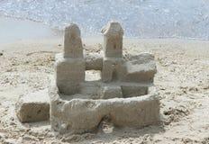 Το κάστρο άμμου στην ακτή Στοκ Φωτογραφίες