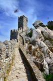 το κάστρο δένει τους τοίχους sintra της Πορτογαλίας surroundin Στοκ Φωτογραφία