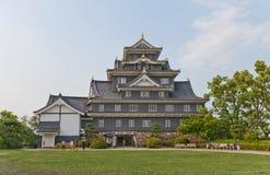 το κάστρο Ιαπωνία κρατά το βασικό Οκαγιάμα η κεντρική είσοδος εδώ ιστορικό ΙΙ Καλιφόρνιας ανασκόπησης Αμερικανών του 1945 του 194 Στοκ Εικόνες