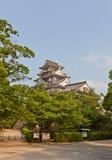 το κάστρο Ιαπωνία κρατά το βασικό Οκαγιάμα η κεντρική είσοδος εδώ ιστορικό ΙΙ Καλιφόρνιας ανασκόπησης Αμερικανών του 1945 του 194 Στοκ εικόνες με δικαίωμα ελεύθερης χρήσης