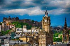 Το κάστρο και το ξενοδοχείο Balmoral, Εδιμβούργο, Σκωτία Στοκ φωτογραφίες με δικαίωμα ελεύθερης χρήσης