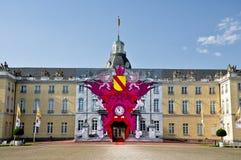 Το κάστρο της Καρλσρούης στη Γερμανία Στοκ Εικόνες