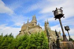 Το κάστρο Hogwarts στον κόσμο Wizarding Στοκ εικόνα με δικαίωμα ελεύθερης χρήσης