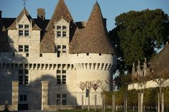 Το κάστρο Monbazillac, γλυκό τα κρασιά έχει γίνει σε Monbazillac στοκ φωτογραφία με δικαίωμα ελεύθερης χρήσης