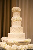 το κέικ ανθίζει το γάμο Στοκ Φωτογραφία