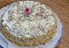 το κέικ αποβουτυρώνει chantilly στοκ φωτογραφίες