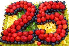 Το κέικ επετείου Στοκ εικόνα με δικαίωμα ελεύθερης χρήσης