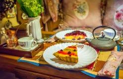 Το κέικ πρωινού Στοκ Εικόνες