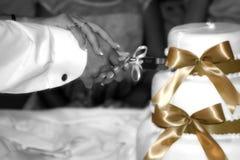 το κέικ τρώει τους άφησε Στοκ Φωτογραφίες