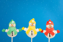 Το κέικ χιονανθρώπων σκάει Στοκ Φωτογραφία