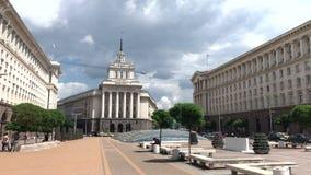 Το κέντρο της πόλης της Sofia, Βουλγαρία απόθεμα βίντεο