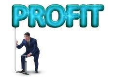 Το κέρδος άντλησης επιχειρηματιών στην επιχειρησιακή έννοια Στοκ φωτογραφία με δικαίωμα ελεύθερης χρήσης