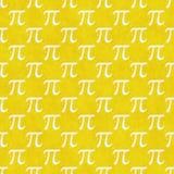 Το κίτρινο και άσπρο σχέδιο κεραμιδιών σχεδίου συμβόλων pi επαναλαμβάνει το υπόβαθρο Στοκ Φωτογραφία