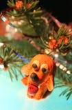 Το κίτρινο σκυλί είναι plasticine Στοκ φωτογραφία με δικαίωμα ελεύθερης χρήσης