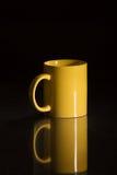 Το κίτρινο φλυτζάνι μου Στοκ φωτογραφίες με δικαίωμα ελεύθερης χρήσης