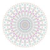 Το καθιερώνον τη μόδα hipster χρωμάτισε τον κύκλο, φωτεινό φιλοσοφικό σύμβολο, κυκλικά στοιχεία που είναι θρησκευτικά, Στοκ Εικόνα