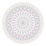 Το καθιερώνον τη μόδα hipster χρωμάτισε τον κύκλο, φωτεινό φιλοσοφικό σύμβολο, κυκλικά στοιχεία που είναι θρησκευτικά, Στοκ φωτογραφία με δικαίωμα ελεύθερης χρήσης