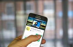 Το καιρικό δίκτυο app Στοκ φωτογραφίες με δικαίωμα ελεύθερης χρήσης
