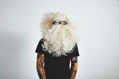 Το κακό rocker santa πηγαίνει στις διακοπές Στοκ Εικόνες