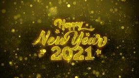 το 2021 καλή χρονιά επιθυμεί την κάρτα χαιρετισμών, πρόσκληση, πυροτέχνημα εορτασμού ελεύθερη απεικόνιση δικαιώματος
