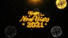 το 2021 καλή χρονιά επιθυμεί την κάρτα χαιρετισμών, πρόσκληση, το πυροτέχνημα εορτασμού περιτυλίχτηκε ελεύθερη απεικόνιση δικαιώματος