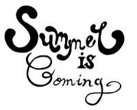 Το καλοκαίρι είναι ερχόμενη εγγραφή στοκ εικόνες με δικαίωμα ελεύθερης χρήσης