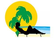 Το καλοκαίρι χαλαρώνει ελεύθερη απεικόνιση δικαιώματος